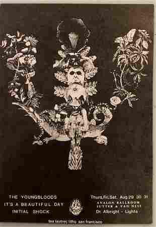 Avalon Ballroom Handbill 8/29-31 1968