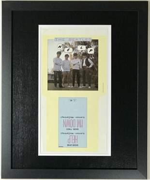 "Beatles ""Help"" 45 Sleeve Art Proof"