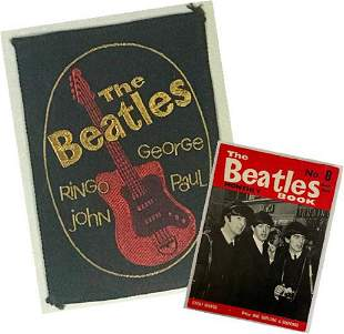 Beatles Original 1964 Badge and Beatles Book