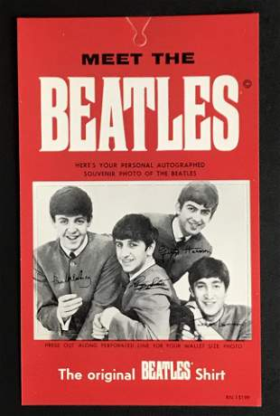 Beatles original 1964 shirt tag