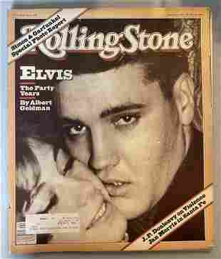 Elvis Presley RIP original Oct. 29, 1981 Rolling Stone