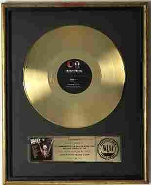 Heavy Metal 1981 Movie Soundtrack RIAA Gold Album Award