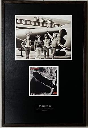 Led Zeppelin I Album Art & Classic Airplane Photo