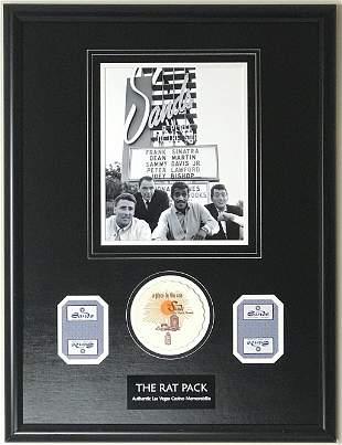 Rat Pack Photo Casino Coaster Collage