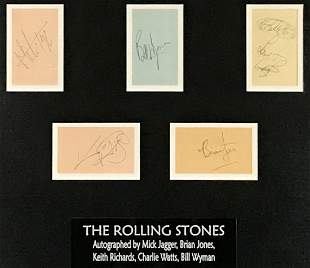 Rolling Stones 1968 Jagger Richards Jones+2 Autographed