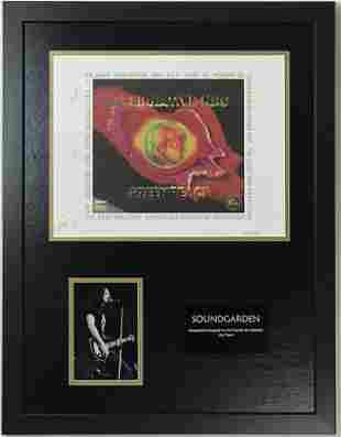 Soundgarden Chris Cornell +2 Autographed Lithograph