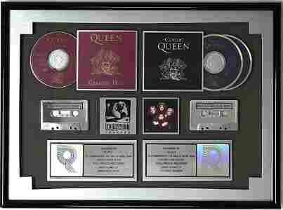 Queen Greatest Hits double RIAA Multi-Platinum Award