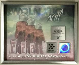 "AWOLNATION ""Sail"" RIAA Digital Single Award - New"