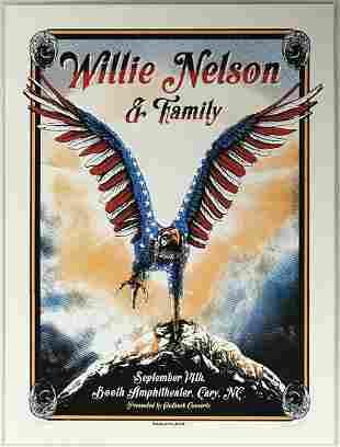 Willie Nelson Zeb Love-Signed Poster Ltd Edition 76/125