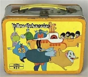 Beatles Original 1968 Yelllow Submarine Lunchbox