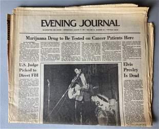 Elvis Presley Aug. 17, 1977 Evening Journal Delaware