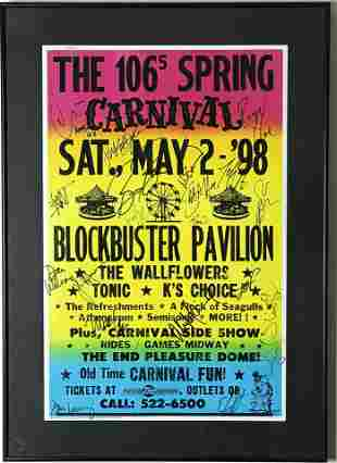 The Wallflowers Jakob Dylan Tonic+ Signed 1998 Poster