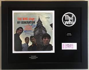 The Who Daltrey & Townshend Autographed Collage