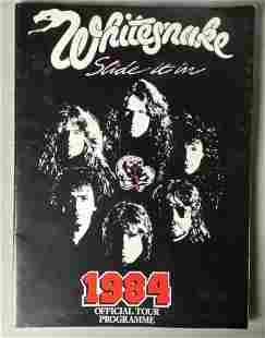 Whitesnake 1984 Slide It In Concert Tour Program