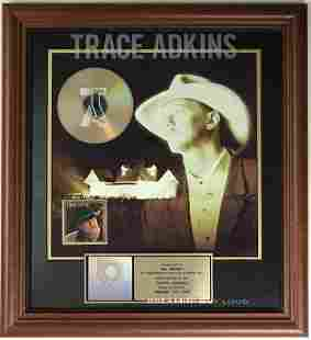 Trace Adkins Dreamin' Out Loud RIAA Gold Album Award
