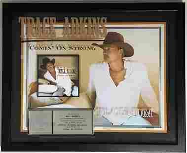 Trace Adkins Comin' On Strong RIAA Platinum Album Award