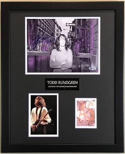 Todd Rundgren Signed Collage w/BAS COA