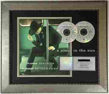 Tim McGraw A Place In The Sun RIAA 2x Platinum Award