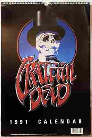 The Grateful Dead 1991 Calendar Vintage