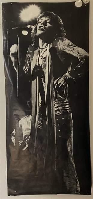 Rolling Stones Mick Jagger Vintage 1980s Poster