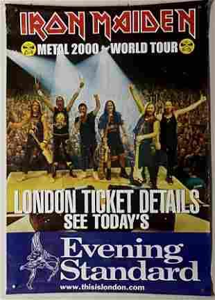 Iron Maiden Vintage 2000 Tour Poster