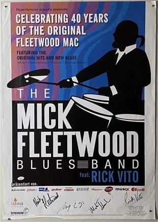 Fleetwood Mac Mick Fleetwood Signed Poster 2008 w/ JSA