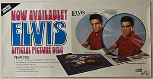 Elvis 1978 Official Picture Disc Promo Poster
