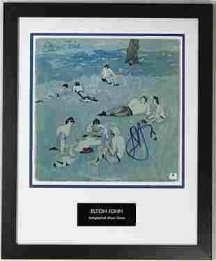 Elton John signed Blue Moves Album w/Epperson LOA