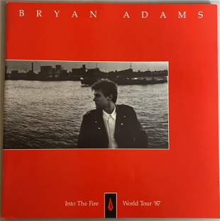Bryan Adams 1987 Into The Fire Tour Book