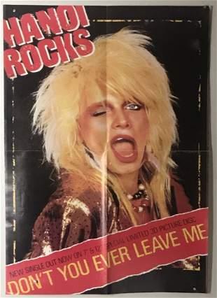 Hanoi Rocks 1984 Don't You Ever Leave Me Promo Poster
