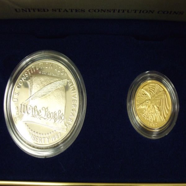 1007: 1987 U.S. Constitution set ($1.00 Silver $5.00 Go