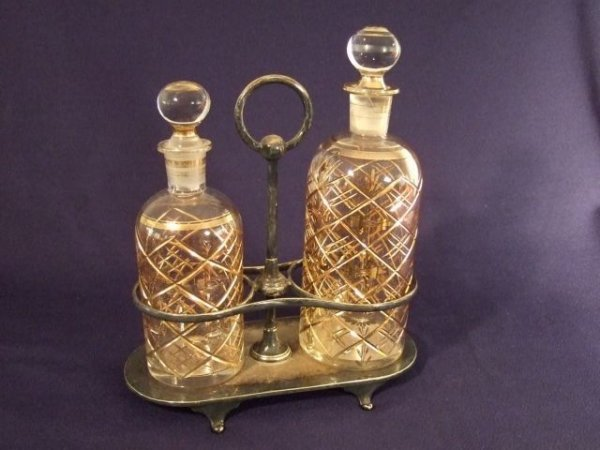 23: Victorian Stoppered Cut Decanters