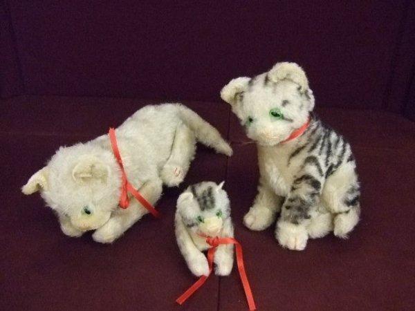 121: Steiff Kittens - Lot of 3