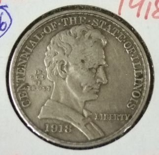 2015: 1918 Lincoln/Illinois 50 Cent