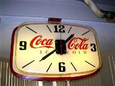 3079: Rare Coca Cola Double Sided Hanging Clock