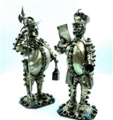 Pair Silver Statues, Import Marks