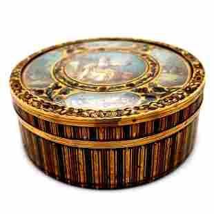 Gold Mounted T'Shell Box