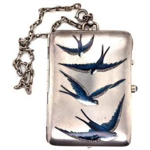 Cigarette Case with Swallows