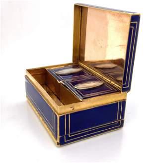Blue Enamel Boîte à Mouche