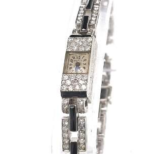 Diamond and Onyx Watch by Marzo