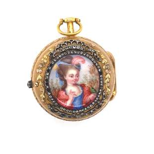 Gold and Enamel Watch