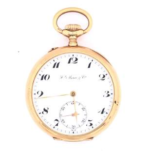 Gold Pocket Watch by Moser & Cie