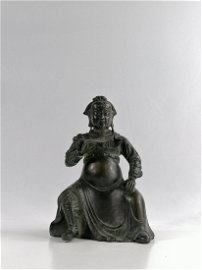 Ming Bronze GuanGong on Stand