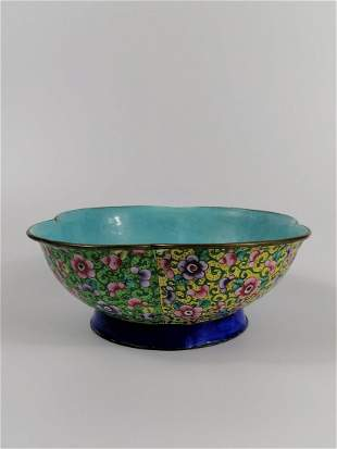 A Chinese painted Enamel famille Rose bowl