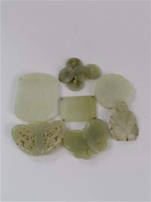 A group of Chinese jade pendants (11)