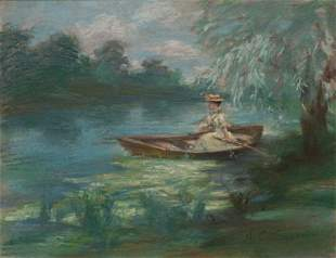 Arthur Clifton Goodwin (AM,1864 -1929) Girl in Boat