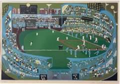 Ralph Fasanella (American, 1914 - 1997), Ballpark