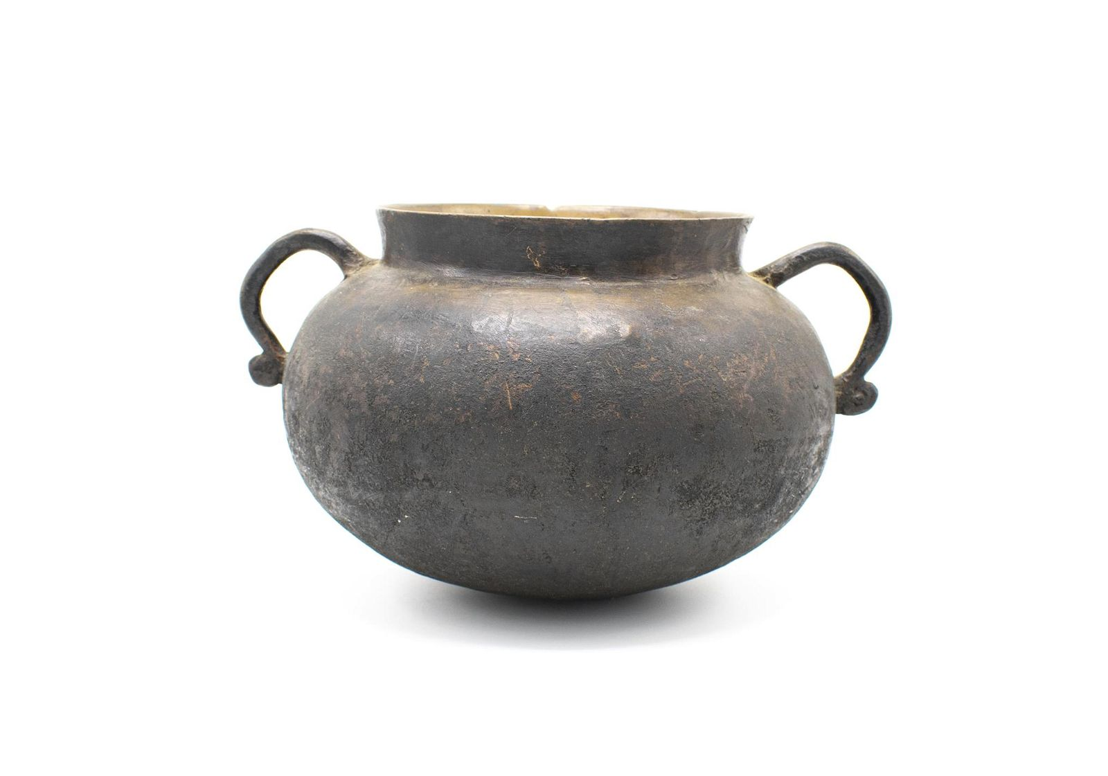 17th Century Bronze Pot accompanied by American Wrought