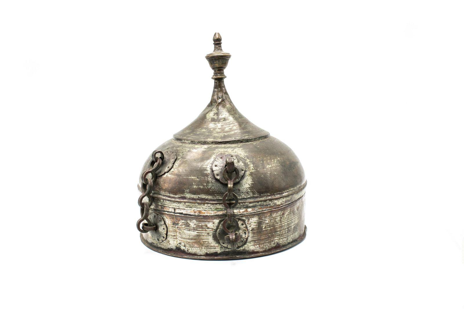 Anatolian/Ottoman Tin-Lined Copper Food Box