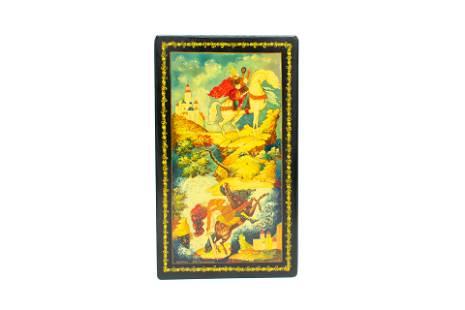 """Mstera Russian Lacquer Box """"Tale of Prince Igor"""""""